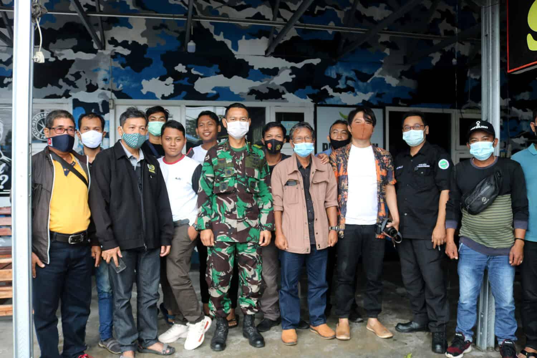 Jalin Silaturahmi, Danlanud H. AS Hanandjoeddin Ngopi Bareng Wartawan