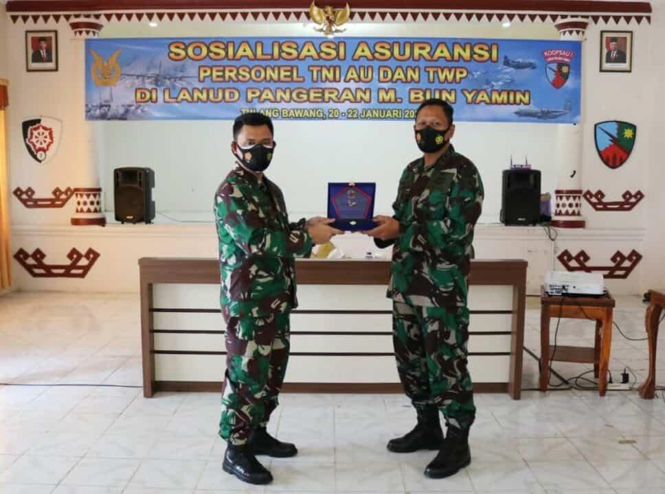 Personel Lanud Pangeran M. Bun Yamin Terima Sosialisasi Asuransi dan TWP Diswatpersau