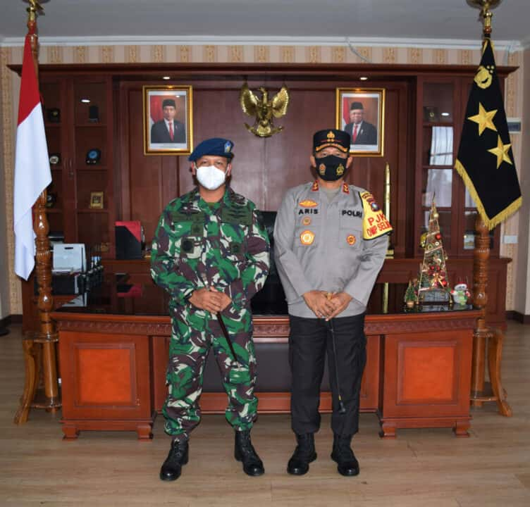 Jalin Silaturahmi, Danlanud Hang Nadim Kunjungi Polda Kepri.