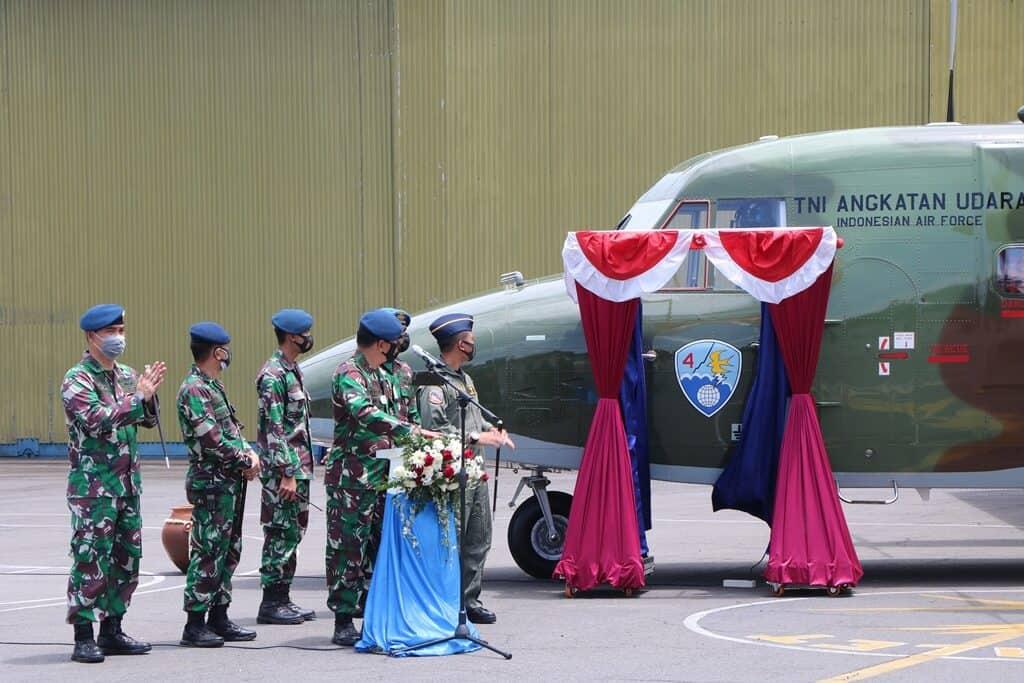 Kedatangan Satu 1 Pesawat Cassa Terbaru di Skadron Udara 4 Lanud Abd Saleh