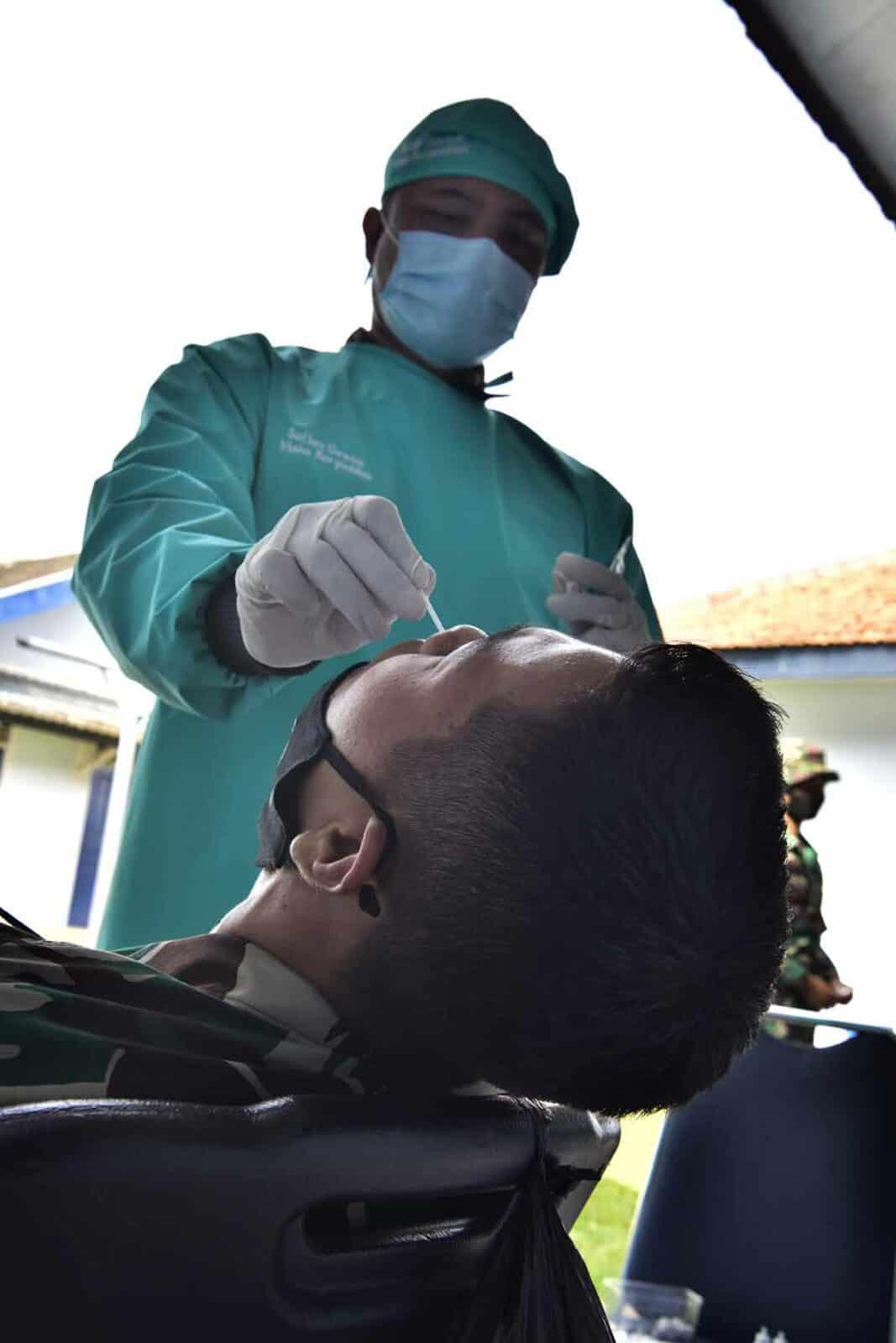 Peterjun Mako Korpaskhas Laksanakan Rapid Test dan Swab Antigen
