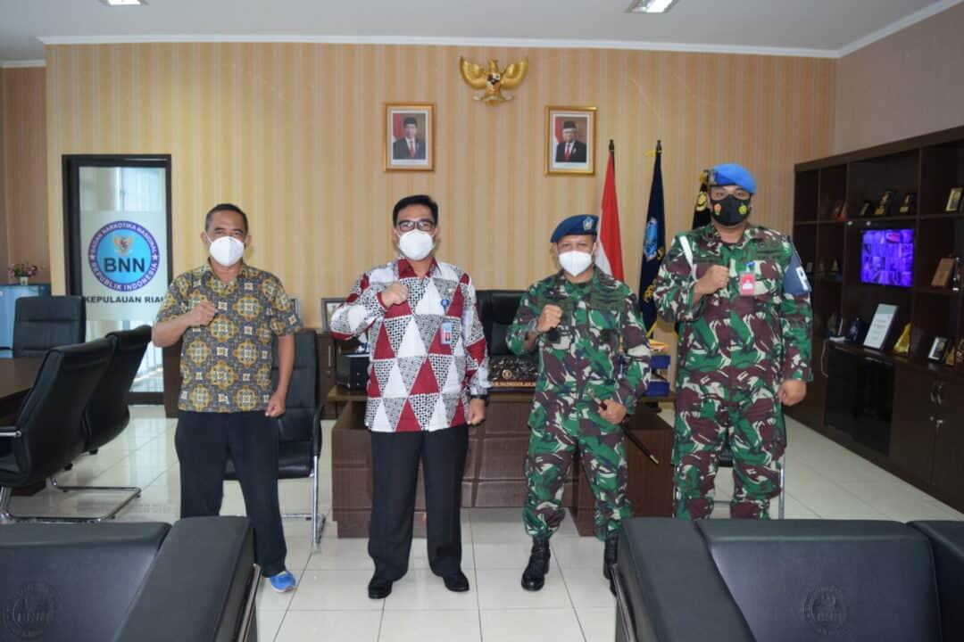 Komandan Lanud Hang Nadim Berkunjung Ke BNN Provinsi Kepri.