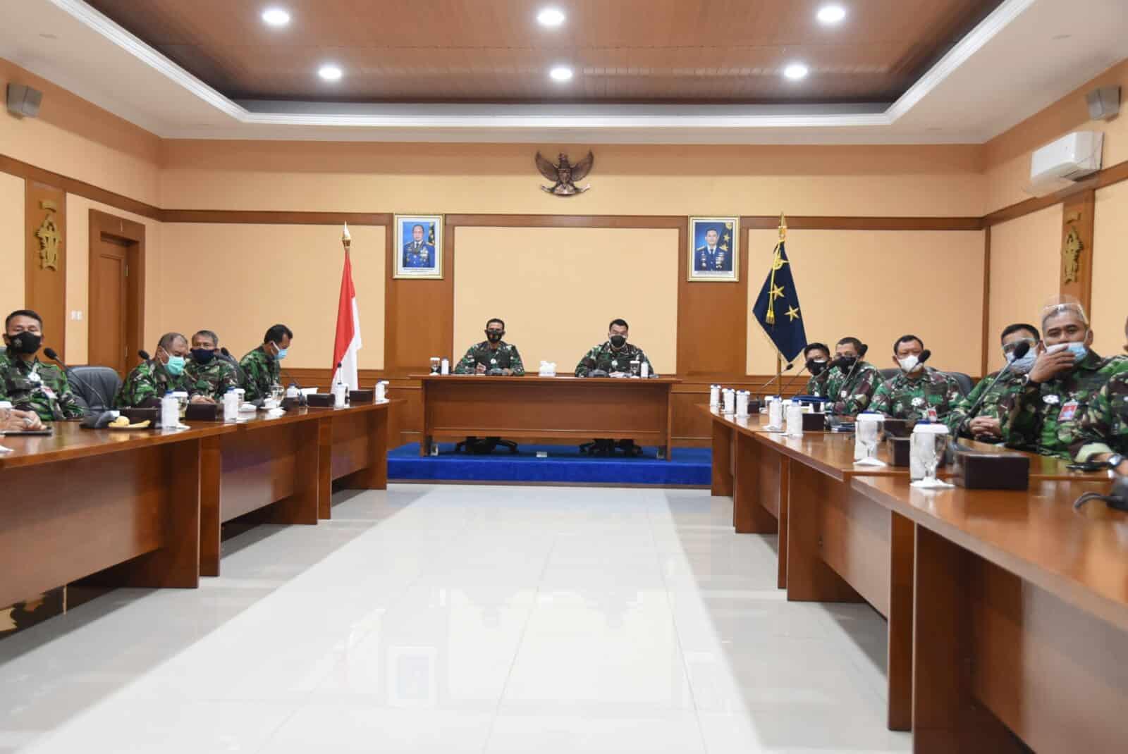 Dilaksanakan Secara Virtual Apel Khusus Kepala Staf TNI Angkatan Udara Tahun 2021.