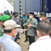 Penyerahan Bantuan Dapur Umum Mobile Dari Mabes TNI Angkatan Udara Sebagai Bantuan Kemanusiaan Untuk Warga Terdampak Banjir Yang Diterima Langsung Gubernur Kalimantan Selatan
