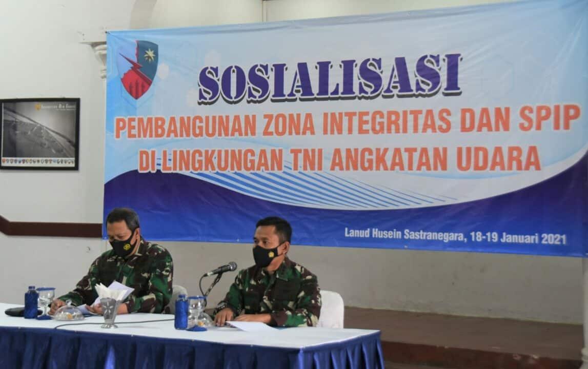 Sosialisasi Pembangunan Zona Integritas dan SPIP di Lanud Husein Sastranegara