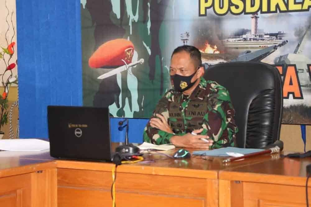 Komandan Pusdiklat Paskhas Mengikuti Apel Khusus Kepala Staf Angkatan Udara Dalam Rangka Tahun Baru