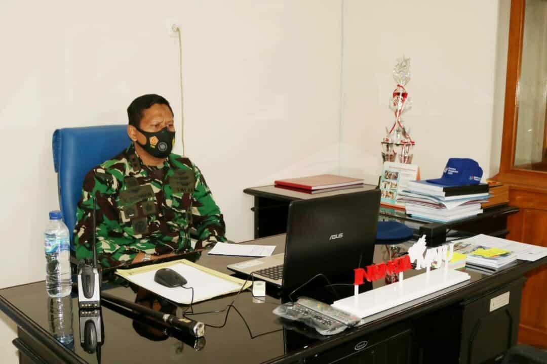 Danlanud Pangeran M. Bun Yamin Ikuti Apel Khusus Kasau Lewat Virtual