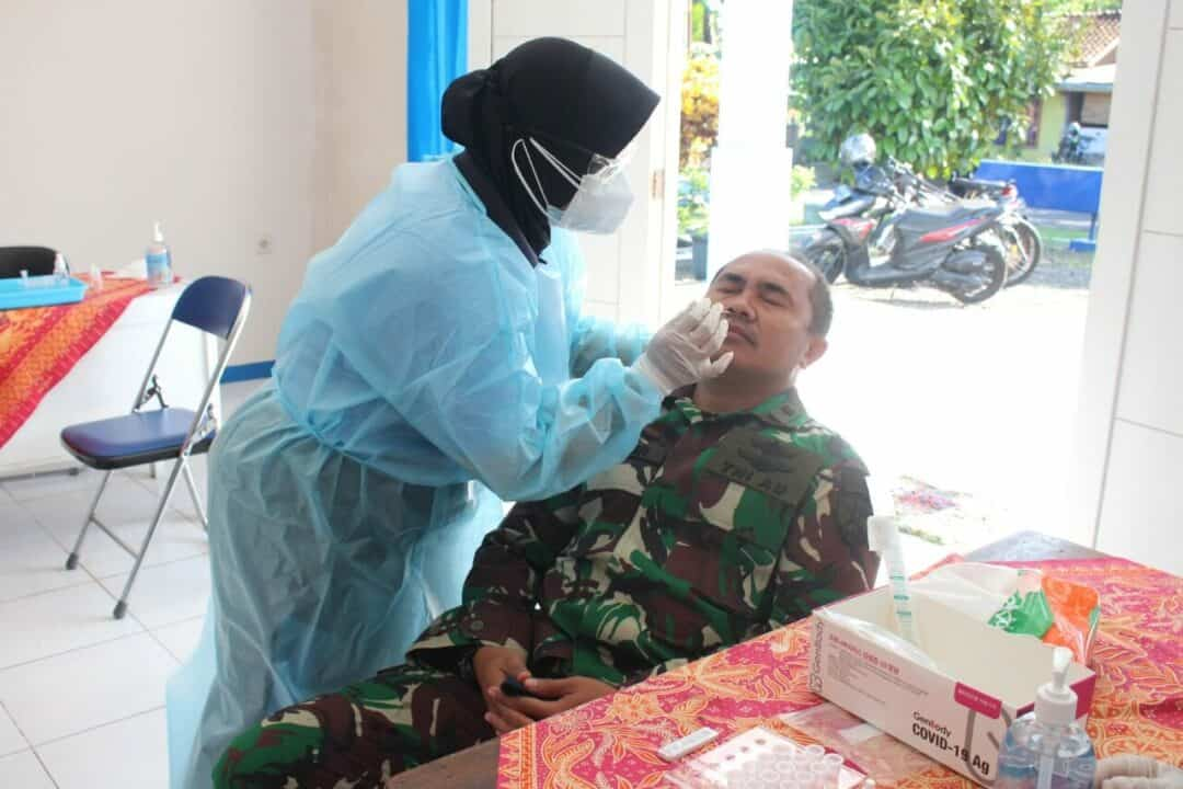 Tes Rapid Antigen di Lanud J.B. Soedirman