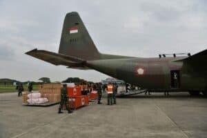 Pesawat TNI AU, Angkut Personel dan Logistik Bantu Korban Gempa Mamuju Sulbar