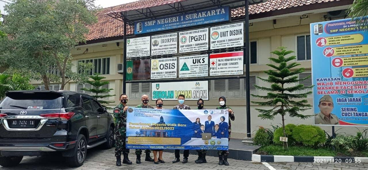 Lanud Adi Soemarmo Sosialisasikan PPDB SMA Pradita Dirgantara di SMP Surakarta