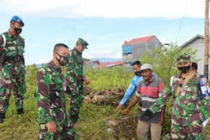 Tim Aset Lanud Sutan Sjahrir Serta Instansi Pemerintah Terkait Saksikan Pengukuran dan Penetapan Batas Tanah