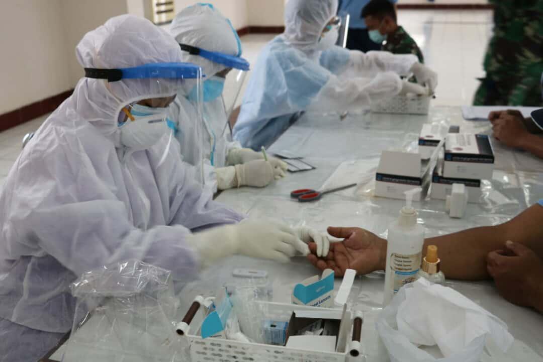 RSAU dr. Nourman T. Lubis Lanud Sulaiman Lakukan Rapid Test