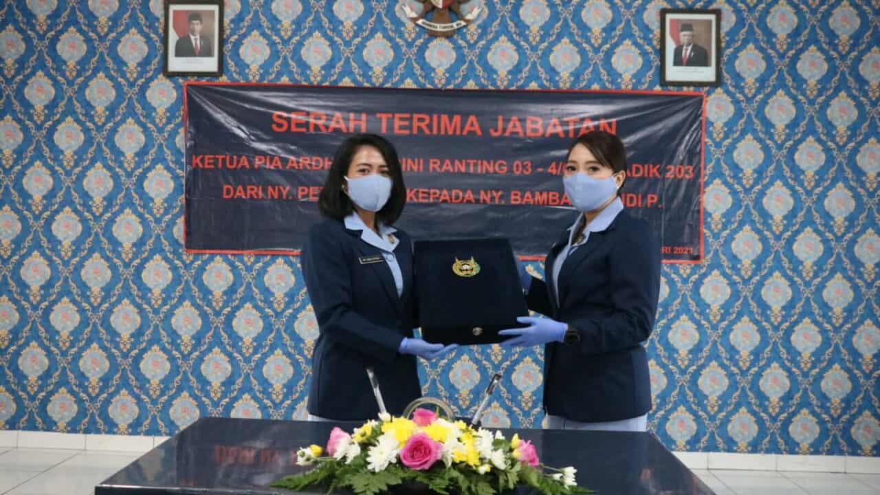 Sertijab Ketua PIA AG Ranting 03-3/G.II Skadik 203 Lanud Sulaiman