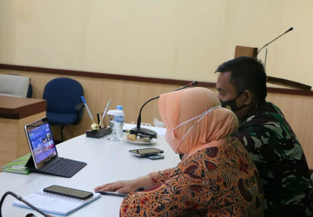 Danlanud dan Ketua Yasarini Cabang Lanud Husein Sastranegara Ikuti Penutupan FESA IV 2020
