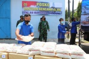 Posko Bantuan Bencana Alam Lanud Husein Sastranegara