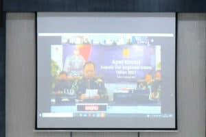 Secara Virtual, Komandan Lanud Sjamsudin Noor Beserta Perwira Lanud Sjamsudin Noor Ikuti Apel Khusus Kasau Awali Tahun 2021