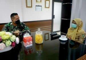 Yonko 462 Paskhas Jalin Silaturahmi Dengan Dinkes Kota Pekanbaru