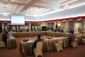 Danlanud Rsn Dampingi Wagubri Hadiri Rapat Penanganan Covid-19 Dan Rencana Pelaksanaan Vaksinasi