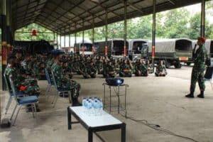 Kesiapan Terjun Penyegaran Prajurit Batalyon Komando 461 Paskhas Cakra Bhaskara