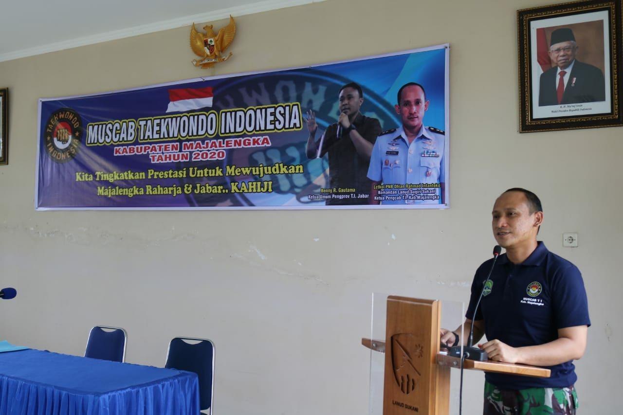 Komandan Lanud Sugiri Sukani Dipercaya Sebagai Ketua Taekwondo Pengcab Majalengka Periode 2020-2024