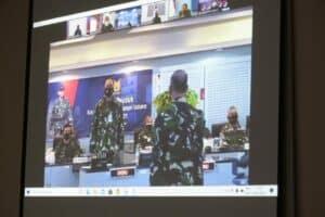 Danlanud dan Perwira Lanud RHF Ikuti Apel Khusus Tahun Baru 2021 oleh Kasau Secara Virtual