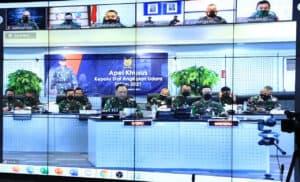 Pimpin Apel Khusus Tahun Baru 2021, Kasau Minta agar Kesiapan Operasional TNI AU Tetap Tinggi.