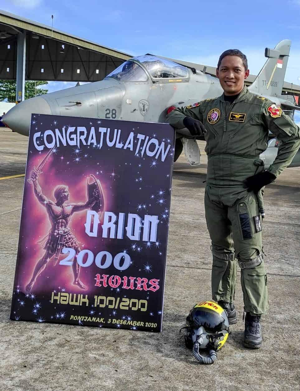 Dua Penerbang Tempur Skadron Udara 1 Lanud Spo Raih 2000 Jam Terbang