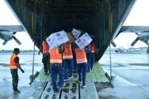 C-130 Hercules TNI AU Kembali Kirim bantuan dari Lanud Halim