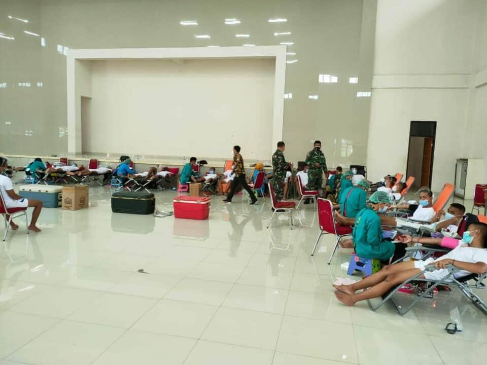 Sebanyak 507 Kantung Labu Darah Terkumpul pada Bakti Sosial Donor Darah Seltipus Tamtama PK Khusus Paskhas Gelombang I TA. 2021