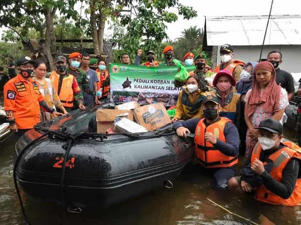 Satgas Korpaskhas Peduli Korban Bencana Banjir di Kalsel