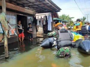 Korpaskhas Melaksanakan Bantuan Kemanusiaan di Wilayah Kalsel