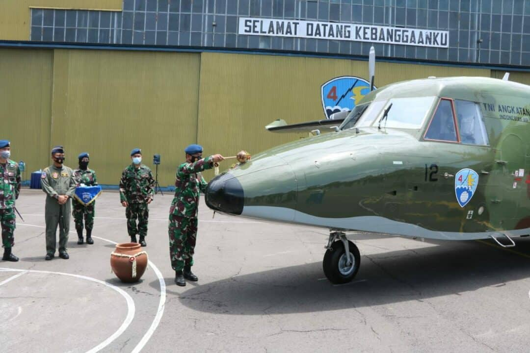 Cassa NC-212i Produksi PT. DI Perkuat Skadud 4 Lanud Abdulrachman Saleh