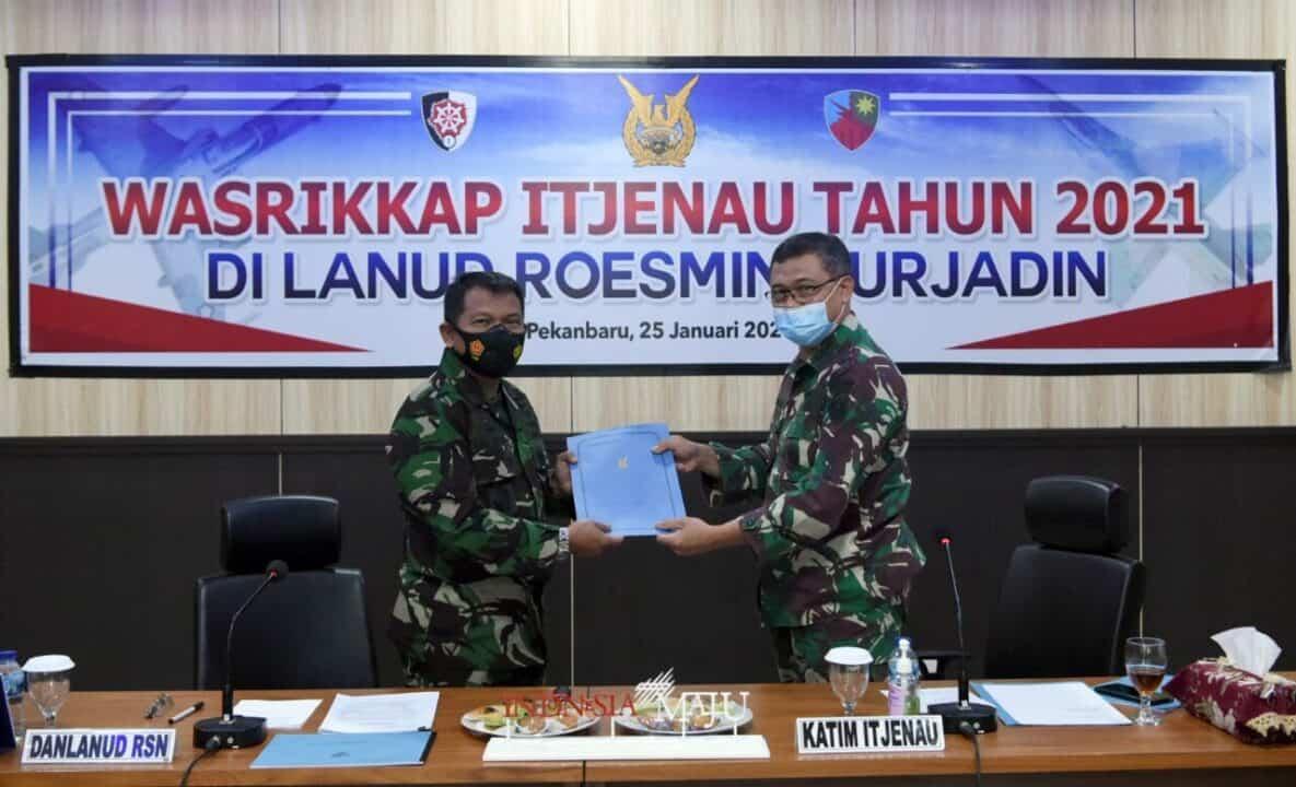 Exit Briefing Akhiri Wasrik Itjenau di Lanud Rsn