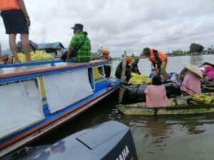Bakti Satgas Korpaskhas Terhadap Korban Bencana Kalsel