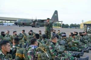 Terjun Penyegaran Prajurit Paskhas Makassar
