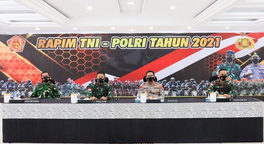 Danlanud Supadio Bersama Pejabat TNI-Polri di Kalbar Ikuti Rapim TNI-Polri