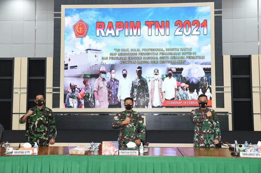 Komandan Lanud Supadio Ikuti Rapim TNI