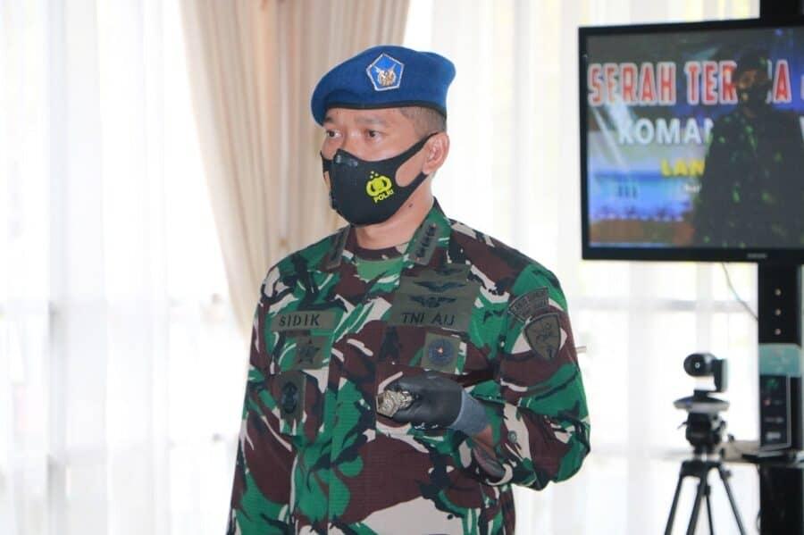 """Kolonel Pnb Sidik """"Typhoon"""" Setiyono, S.E Resmi Jabat Danwing 7 Lanud Supadio"""