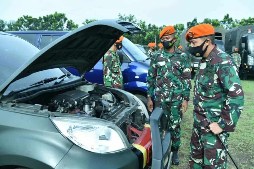 Denhanud 474 Paskhas Apel Kesiapsiagaan (Operation Readiness) Penanggulangan Bencana
