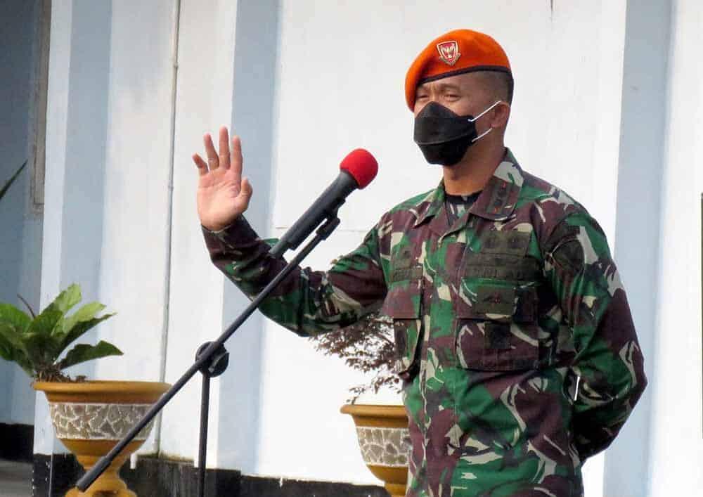 Yonko 462 Paskhas Gelar Apel Kesiapsiagaan Penanggulangan Bencana