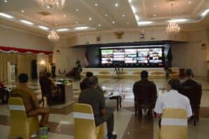 Lanud Rsn Hadiri Rakor Penetapan Status Siaga Darurat Penanggulangan Bencana Karhutla Provinsi Riau
