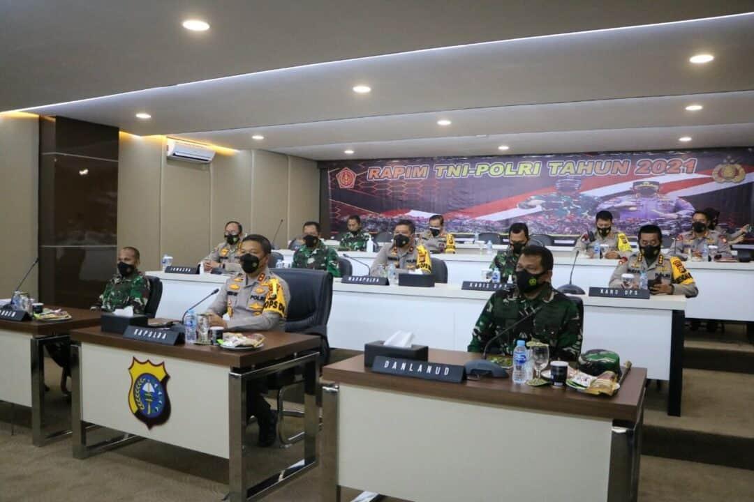 Komandan Lanud Rsn Mengikuti Rapim TNI-Polri Tahun 2021 Secara Virtual