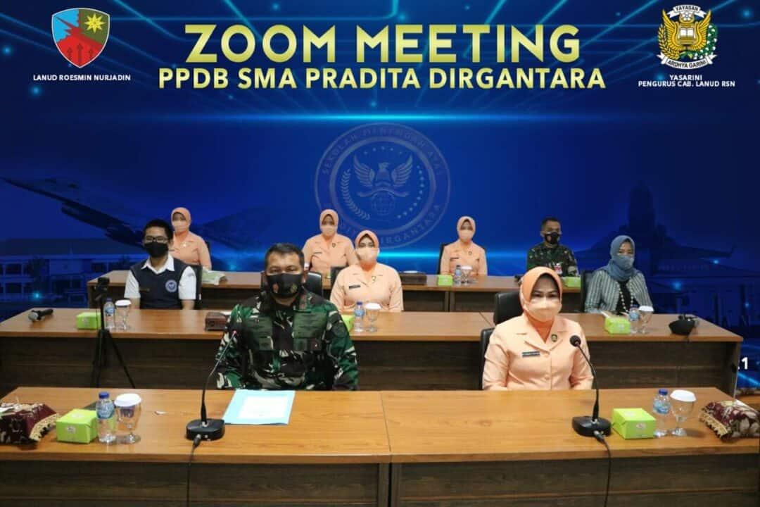 Jaring Siswa Baru, PPDB SMA Pradita Dirgantara Lanud Rsn Gelar Zoom Meeting Se Provinsi Riau