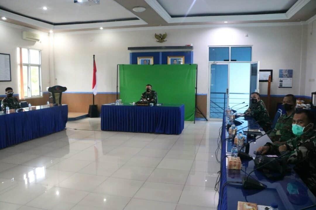 Komandan Lanud Sultan Hasanuddin Ikuti Pembukaan Rapim TNI AU 2021, Secara Virtual