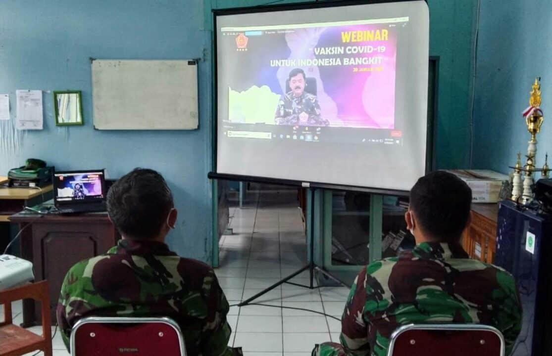 Keikutsertaan Lanud Sjamsudin Noor Pada Webinar Vaksin Covid-19 Untuk Indonesia Bangkit