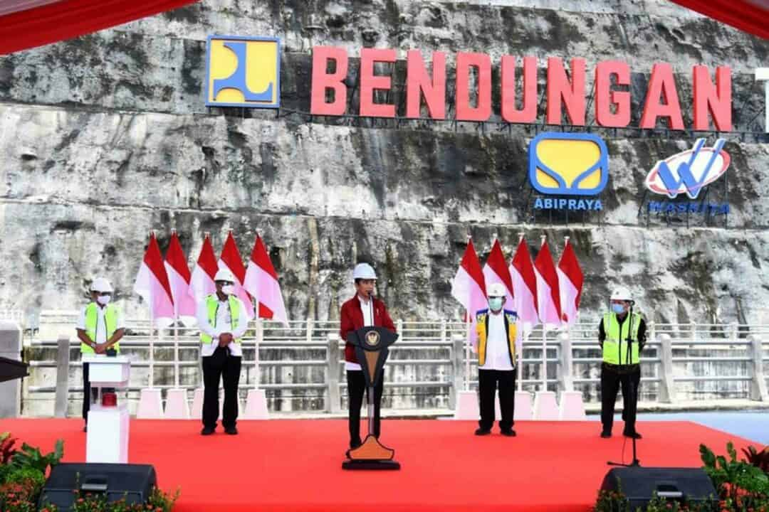 Komandan Lanud Sjamsudin Noor Turut Sambut Kedatangan Presiden RI Dalam Rangka Meresmikan Bendungan Tapin Kalimantan Selatan