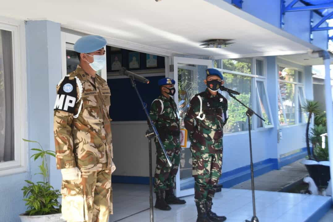 Penerimaan Personel Pasca Satgas Perdamaian Lebanon Di Lanud Husein S.