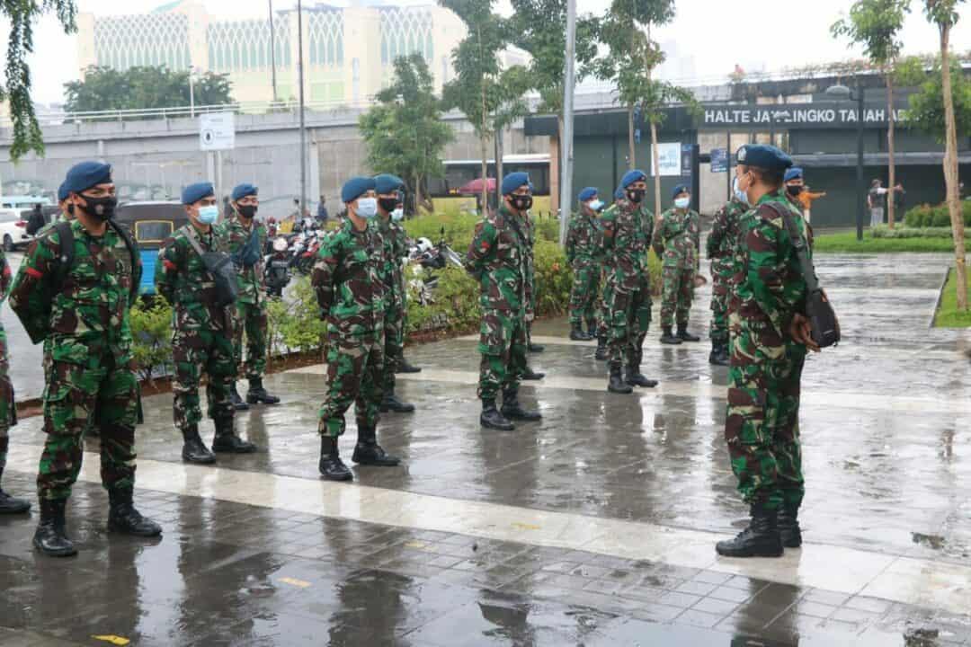 Cegah Melonjaknya Penderita Covid-19 Koopsau I dan Lanud Halim Perdana Kusuma, Tertibkan Protokol Kesehatan di Jatinegara, Tanah Abang dan Bandara Halim Perdana Kusuma