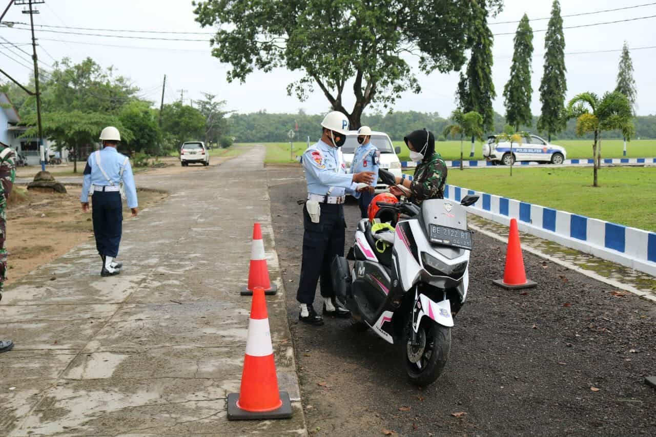 Satuan Polisi Militer TNI AU Lanud Pangeran M. Bun Yamin Gelar Operasi Gaktib