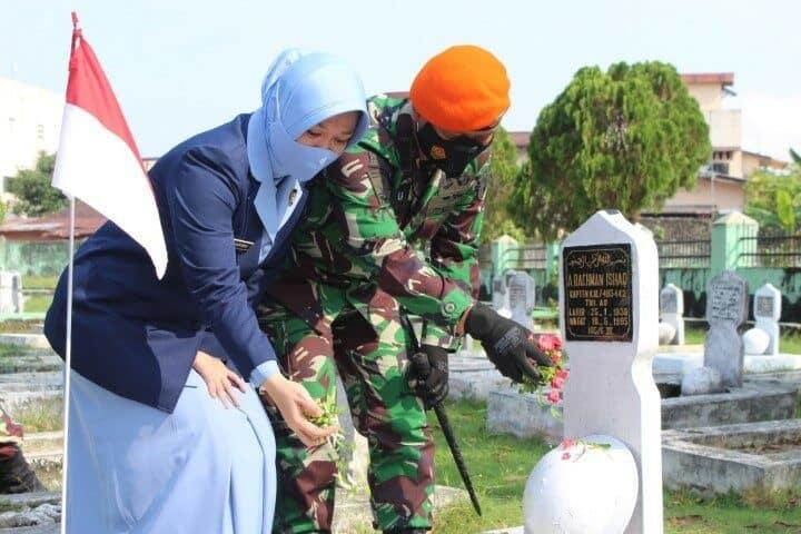 Danwing III Paskhas Ikut Serta Ziarah Dalam Rangka HUT ke-59 Kohanudnas